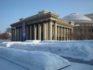 Novosibirsk Opera House in Winter